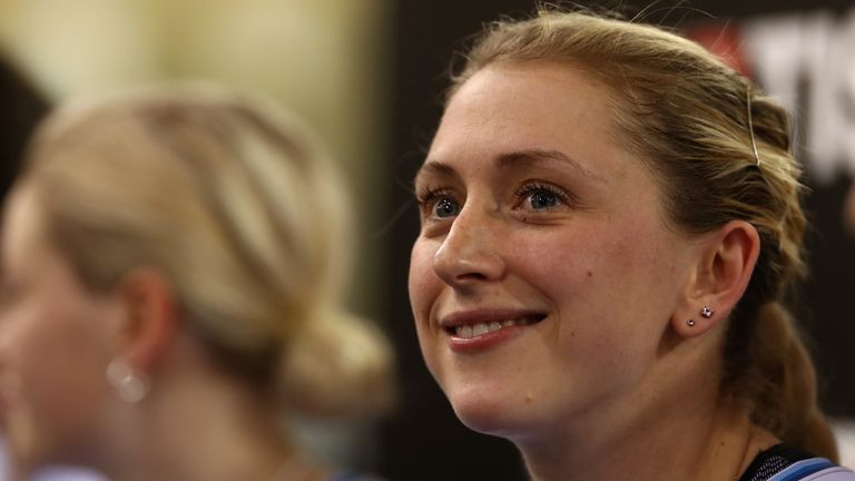 Laura Kenny missed out on a medal but said she felt good after her shoulder injury
