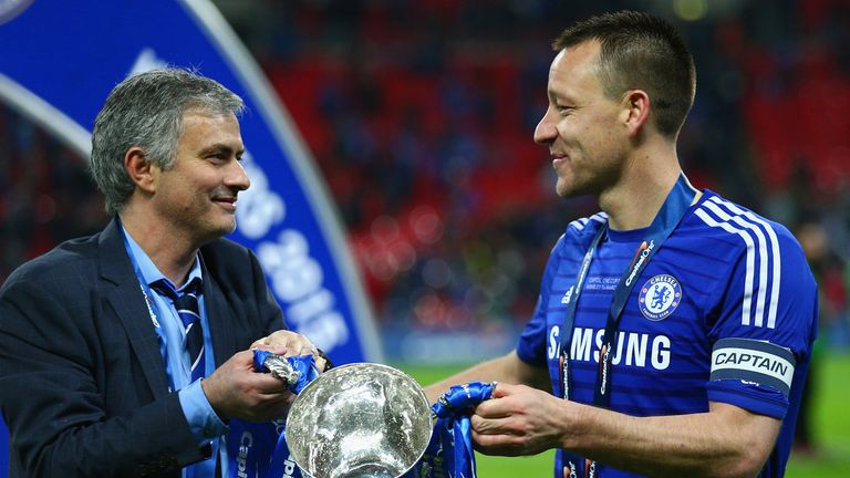 Mourinho and Terry won three League Cup trophies together at Chelsea