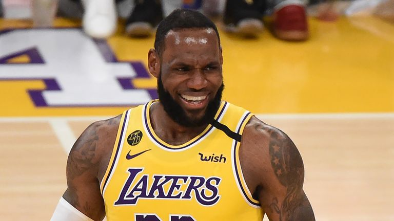 Lebron James of the LA Lakers