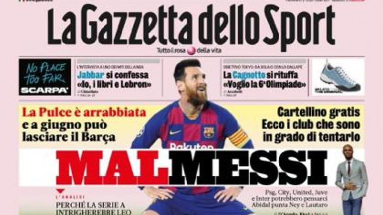 La Gazetta dello Sport claim Messi could yet be on his way out