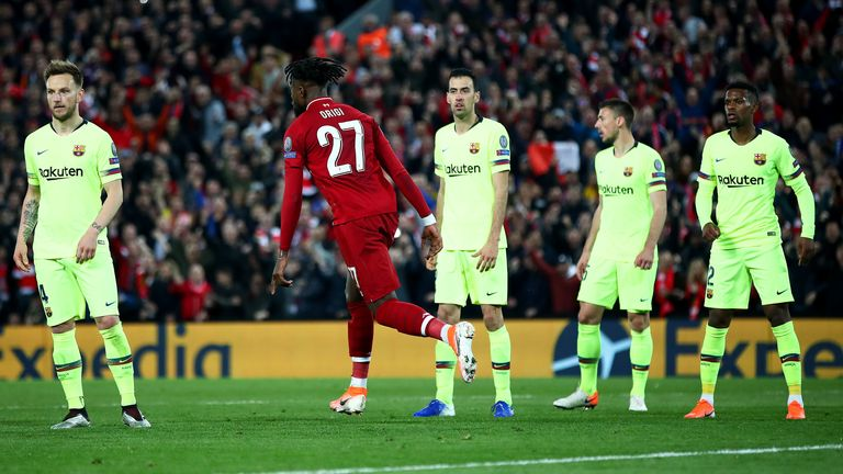 Barcelona surrendered a 3-0 first-leg lead in last season's Champions League semi-final defeat to Liverpool