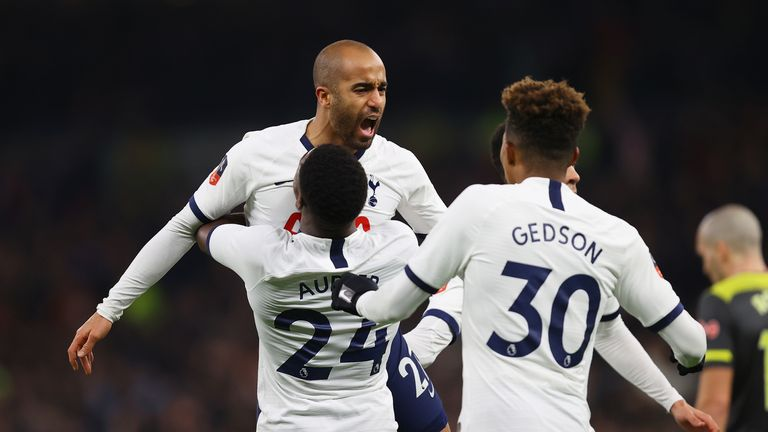 Lucas Moura made it 2-2 against Southampton on Wednesday