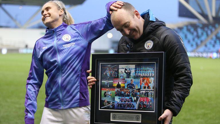 Manchester City Women gave Nick Cushing a winning send-off
