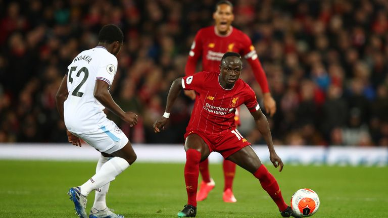 Jeremy Ngakia in action at Anfield