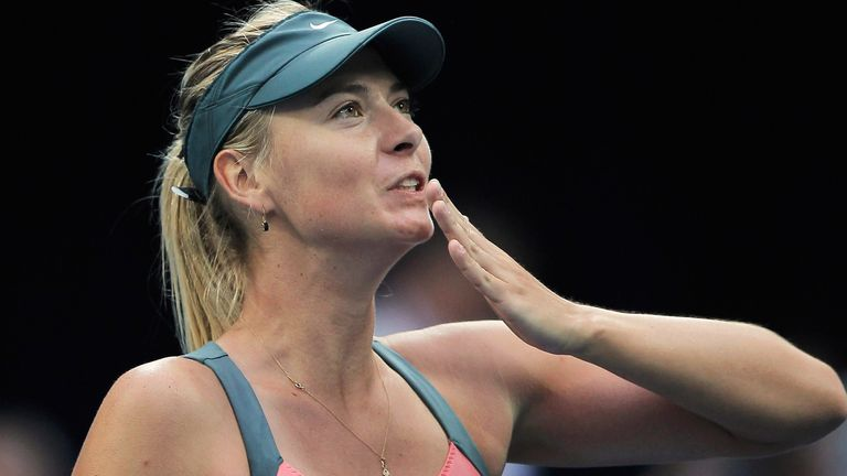Maria Sharapova of Russia waves to her fans after winning against Na Li of China during the Women's Single Semifinal of China Open at the China National Tennis Center on October 6, 2012 in Beijing, China