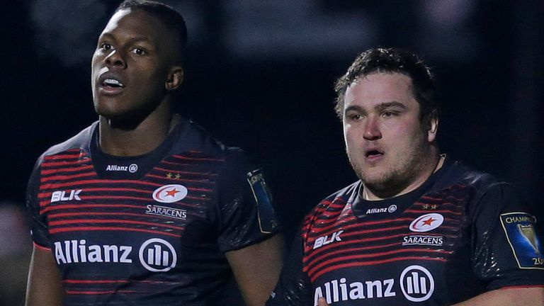 Saracens players, including Maro Itoje and Jamie George, and staff have been asked to take a pay cut