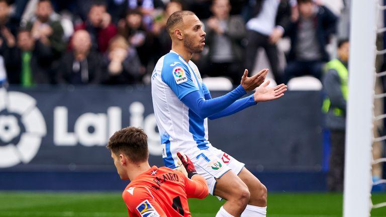 Braithwaite has scored eight goals in 20 matches for Leganes this season