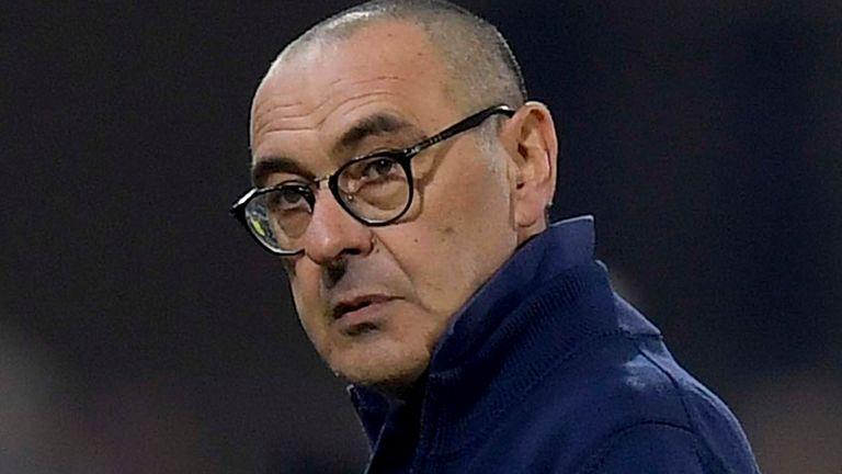 Juventus head coach Maurizio Sarri