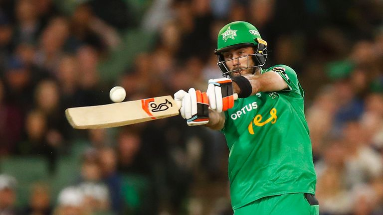 Maxwell has hit three half centuries in 16 matches for Melbourne Stars in the Big Bash this season