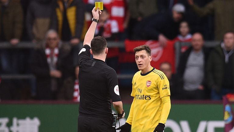 Mesut Ozil endured a frustrating afternoon on his 250th Arsenal appearance
