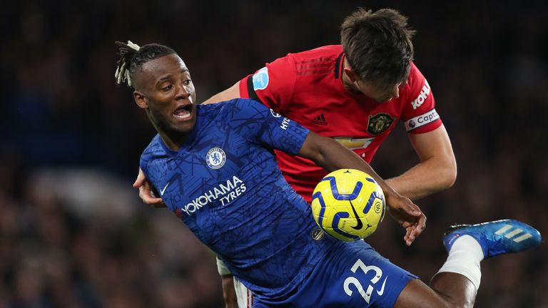 Michy Batshuayi made his first Premier League start for Chelsea in over two years