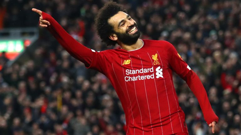 Mohamed Salah scores Liverpool's fourth goal of the game