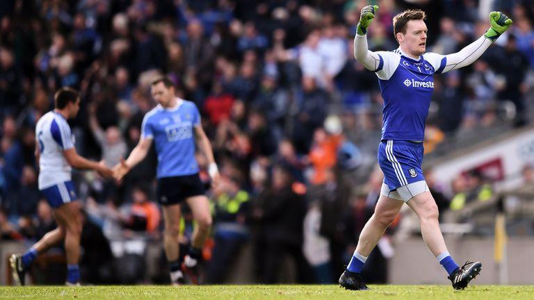 Rory Beggan celebrates the 2018 win over Dublin