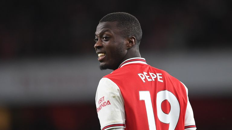 Nicolas Pepe starred for Arsenal against Newcastle