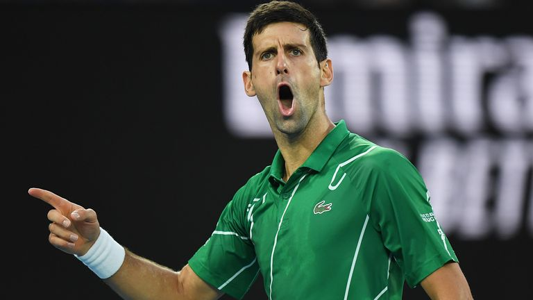 Djokovic withstood a comeback from Thiem to win the opening set