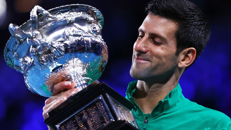 Novak Djokovic won his eighth Australian Open title and 17th Grand Slam overall after edging Dominic Thiem in a thrilling final. He will reclaim the No 1 ranking from Nadal on Monday