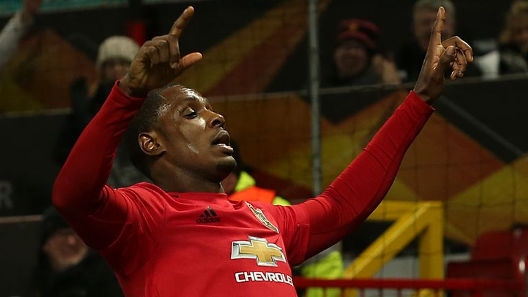 Odion Ighalo scored on his first start for Manchester United on Thursday