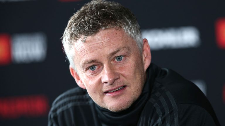 Ole Gunnar Solskjaer spoke to reporters ahead of United's visit to Chelsea on Monday