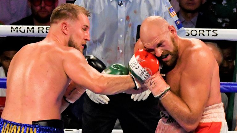 Otto Wallin caused a major cut above Fury's eye