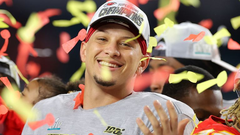Patrick Mahomes won the Super Bowl in February with the Chiefs