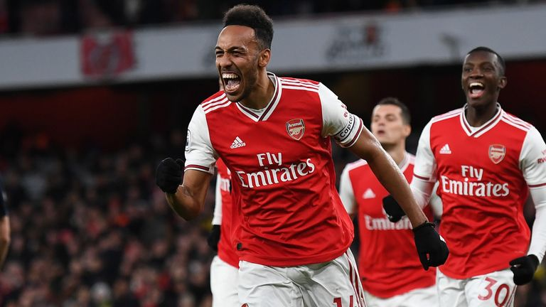 Aubameyang has 17 league goals to his name so far this season