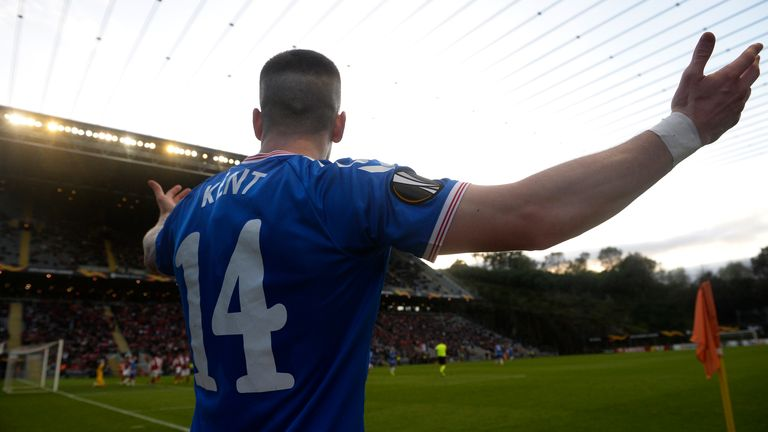 Kent's goal was the difference as Rangers progressed in Braga