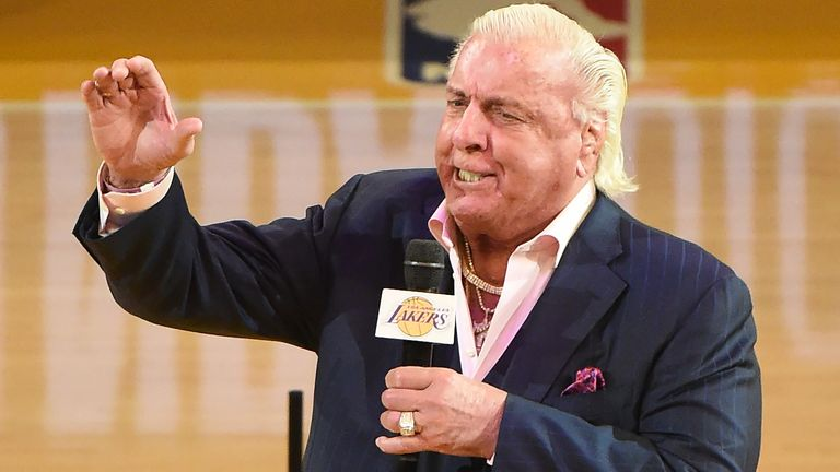 Ric Flair introduces the LA Lakers