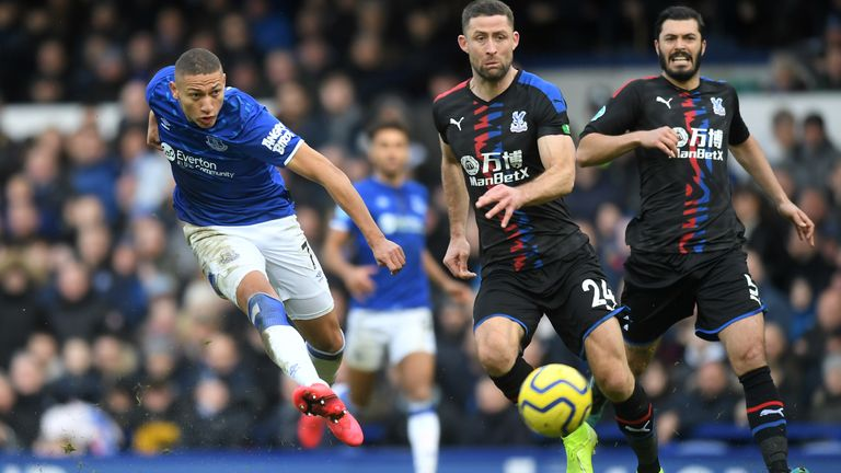 Richarlison restores Everton's lead against Crystal Palace
