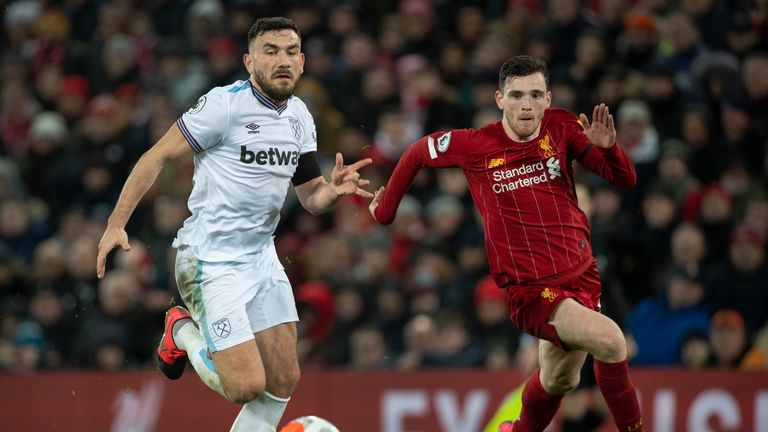 Andrew Robertson has been ever-present for Liverpool in the Premier League this season