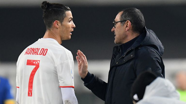 Cristiano Ronaldo is still breaking records but some Juve fans have turned on Maurizio Sarri