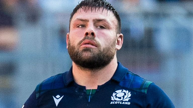 Rory Sutherland won his sixth Scotland cap in Rome