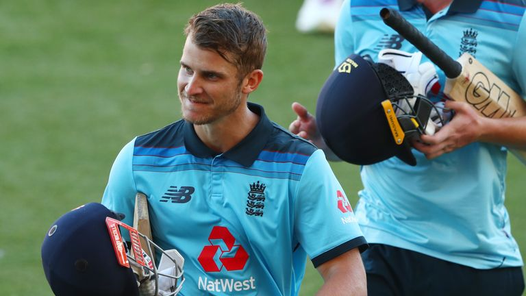 Hain was all smiles after striking a match-winning century for England Lions this winter