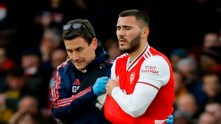Arsenal fear Sead Kolasinac may have dislocated his shoulder in the win over Everton
