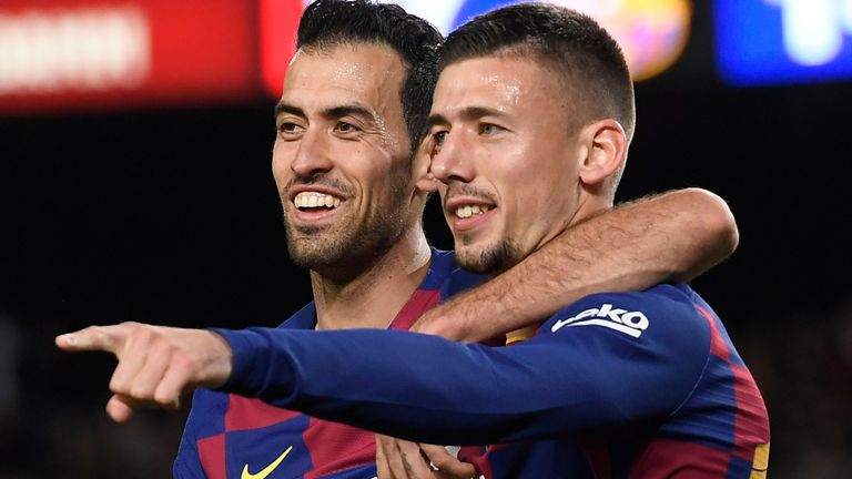 Sergio Busquets and Clement Lenglet were on target for Barcelona in their win at Betis