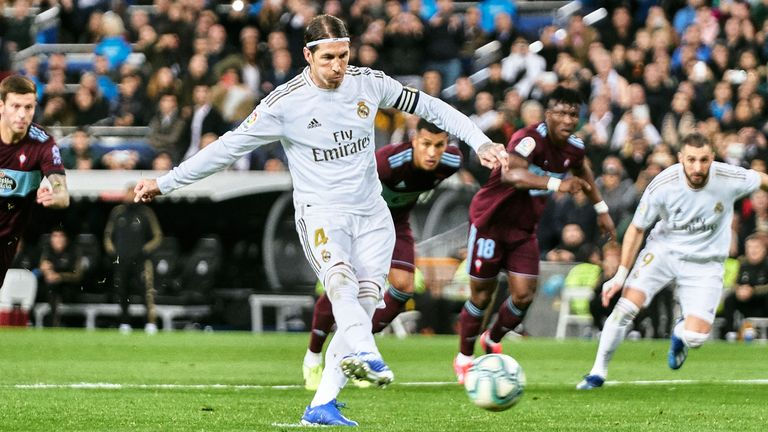 Sergio Ramos scored from the penalty spot to put Real Madrid ahead