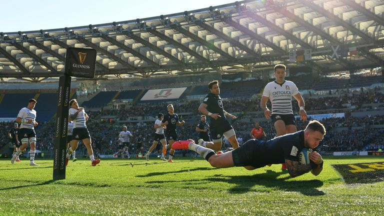 Stuart Hogg opened the scoring with a brilliant individual try