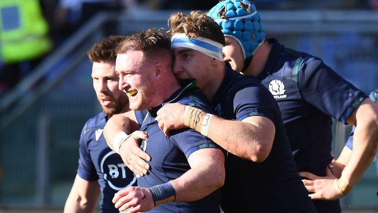 Stuart Hogg scored Scotland's only points of the first half