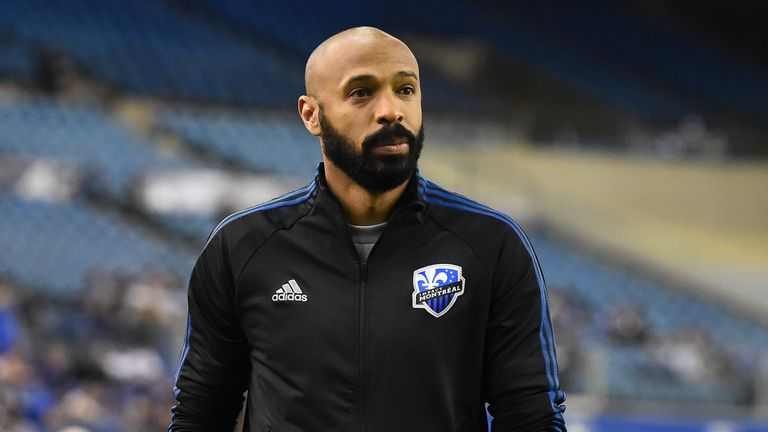 Former Arsenal striker Thierry Henry is in charge of Montreal Impact
