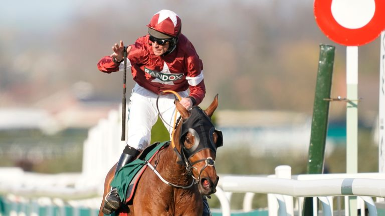 Tiger Roll wins the 2019 Grand National under jockey Davy Russell