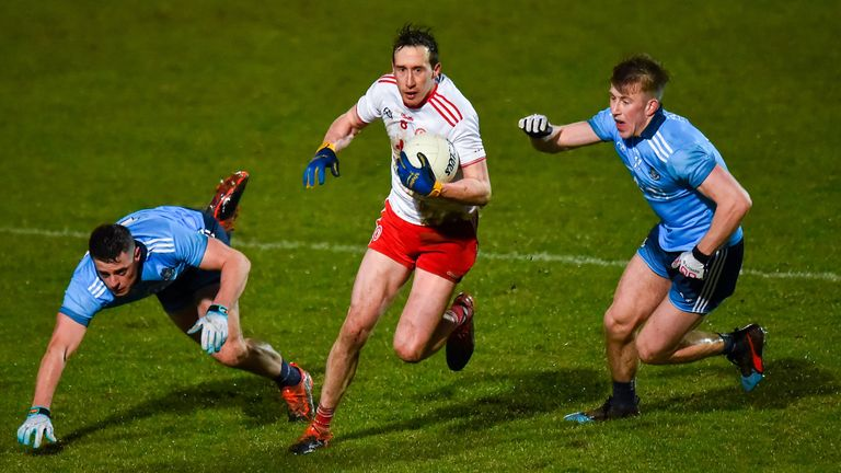 Tyrone recorded a league victory over Dublin for the second year in succession