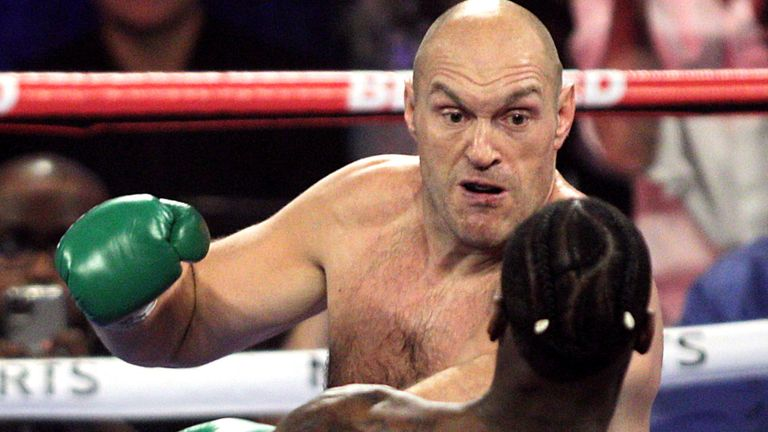 Tyson Fury during his victory over Deontay Wilder