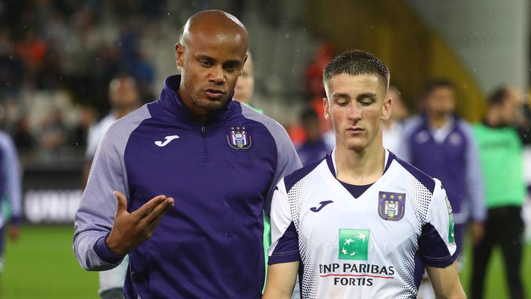 Kompany is seen as a father figure by the young Anderlecht players
