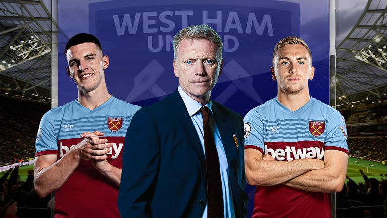 David Moyes has praise for Declan Rice and Jarrod Bowen