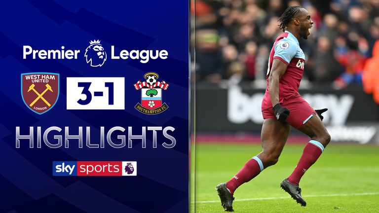 Highlights from West Ham vs Southampton