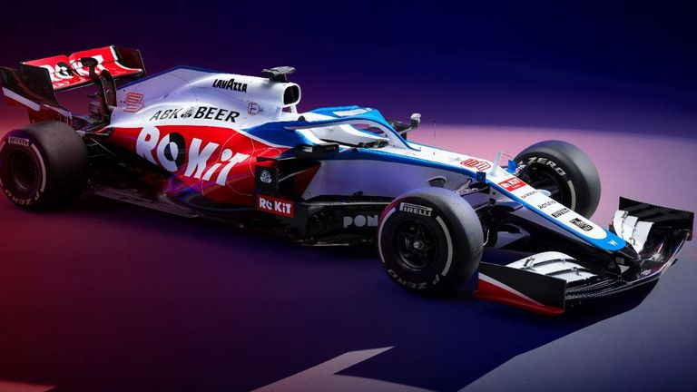 Williams unveils 2020 F1 vehicle with all-new livery