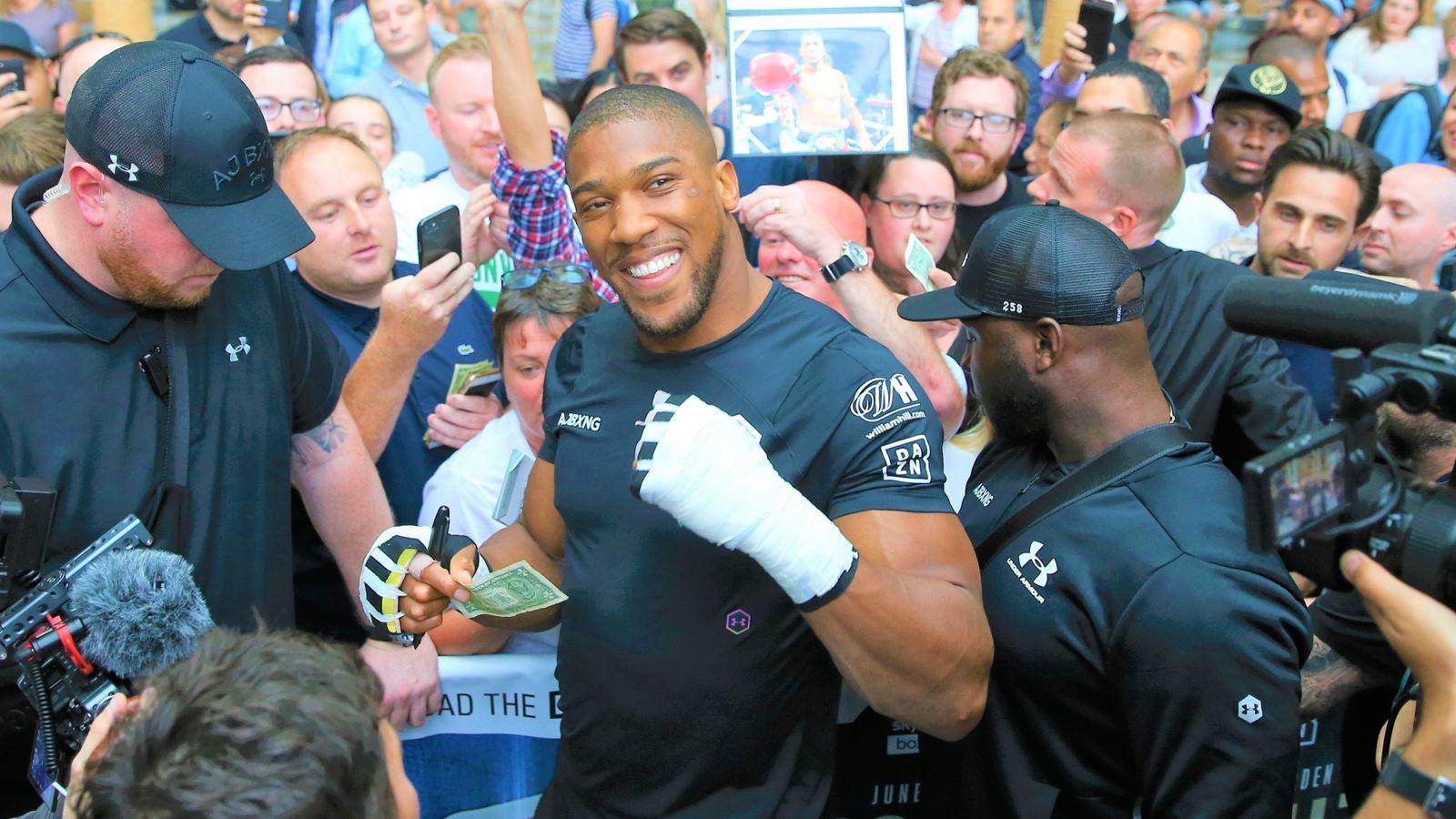 Anthony Joshua olvidó brevemente la manía de la semana de pelea en un viaje vertiginoso a Nueva York, dice Andy Clarke | Noticias del boxeo 29