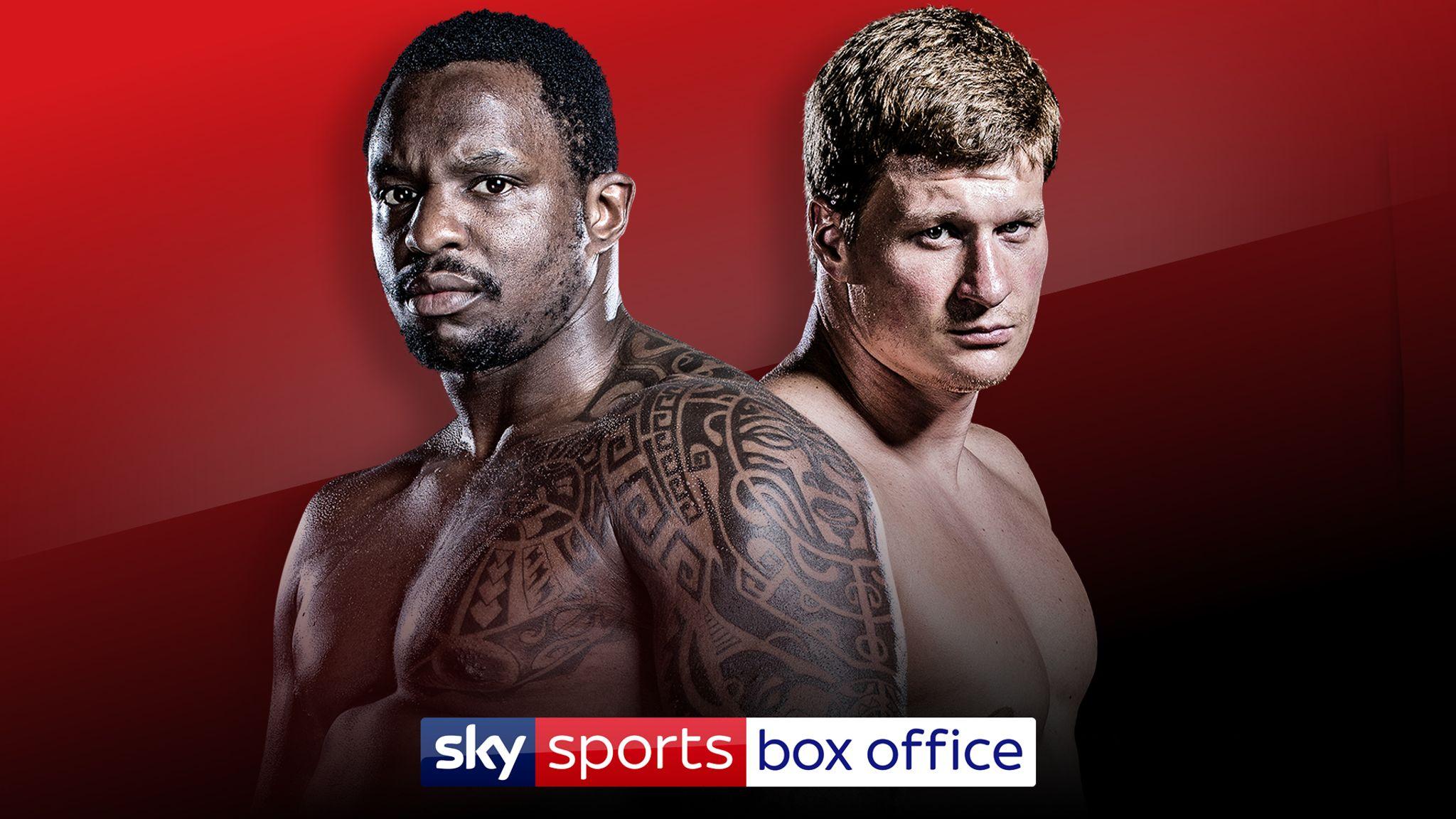 Whyte vs Povetkin: Dillian Whyte to fight Alexander Povetkin on May 2 live on Sky Sports Box Office   Boxing News   Sky Sports