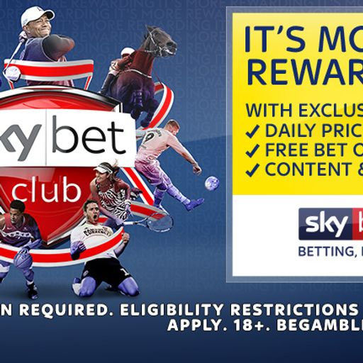Join Sky Bet Club and track your progress towards a £5 free Bet