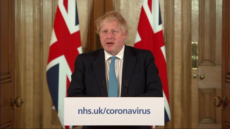 The Prime Minister says the UK can turn the tide in the next 12 weeks but only by following the steps the Government have outlined