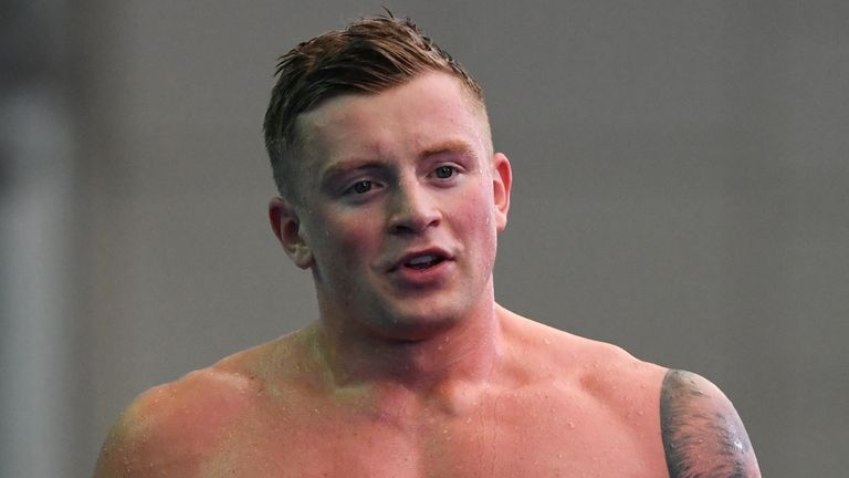 Olympic champion Adam Peaty was set to defend his 100m breaststroke title